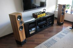 Leben CS600 Living Voice OBX-R2 | Flickr - Photo Sharing! Hifi Audio, Hi Fi System, Audio System, Home Interior Design, Interior Decorating, Iphone Macbook, Audio Room, Rack Design, Industrial Decor