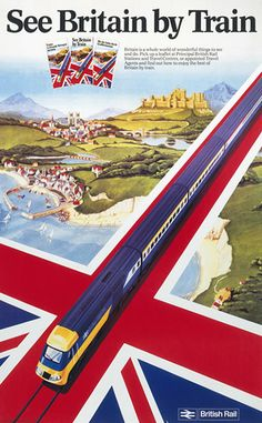 Kenneth Grange draws a train - Plan a visit - National Railway Museum , [post_tags Posters Uk, Train Posters, Railway Posters, British Travel, National Railway Museum, Retro Poster, Train Art, Travel Drawing, Beach Trip