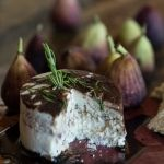 "Rosemary Honey ""Cheese"" with Figs and a Balsamic Reduction - how delicious...."