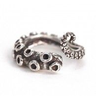 Silver Tentacle Wrap Ring