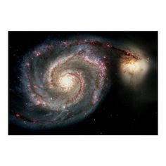 Whirlpool Galaxy M51 Poster - tap, personalize, buy right now! #Poster  #nasa #space #astronomy #prints #posters Galaxy Cross, Spiral Galaxy, Hubble Space Telescope, Space And Astronomy, Telescope Images, Nasa Space, Constellations, Cosmos, Hubble Images