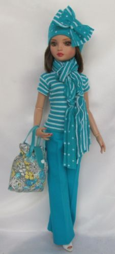 ELLOWYNE'S AT THE SHORE OUTFIT.WITH HEADBAND AND PURSE,  by ssdesigns via eBay, SOLD 4/8/15  BIN $49.99