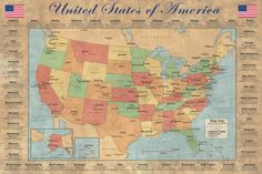 Map of the United States Posters at AllPosters.com