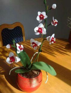 Orquidea  ganchillo