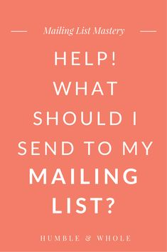 Your Mailing List Is Essentially The Most Valuable Creative Business, Business Tips, Online Business, Business Marketing, Email Marketing, Content Marketing, Email List, Blogging For Beginners, Make Money Blogging