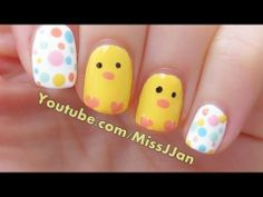 Easter Baby Chick Nail Art