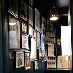 Cozette McCreery, Sid Bryan & Joe Bates (Sibling) — Fashion Designer, Apartment and Studio, London-Shoreditch. Black Toilet, Black Bath, Man Bathroom, Bathrooms, The Dark Side, Tadelakt, Dark Walls, Dark Interiors, Bathroom Inspiration