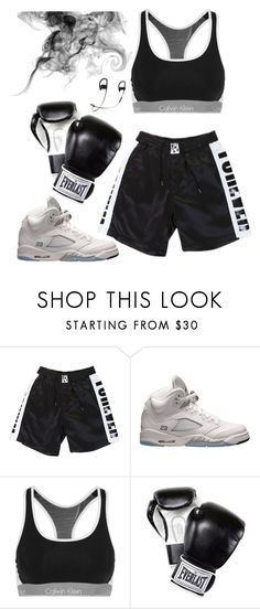 """Untitled #502"" by jenxorose ❤ liked on Polyvore featuring Retrò, Calvin Klein Underwear and Everlast"