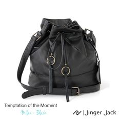 Temptation of the Moment with Jinger Jack MILAN in Black! You Bag, Spice Things Up, Bucket Bag, Leather Bag, Milan, In This Moment, Handbags, My Style, Classic