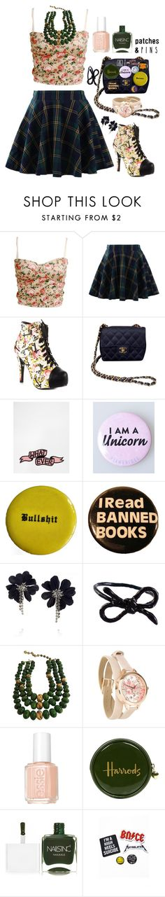 """""""No Bull**** Zone"""" by itsjustagame ❤ liked on Polyvore featuring Chicwish, Iron Fist, Chanel, Ohh Deer, Lanvin, Areaware, Castlecliff, Essie, Harrods and Nails Inc."""