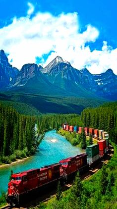 Canadian Pacific Railway,Banff National Park,Alberta,Canada