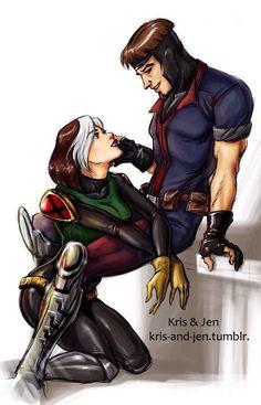 rogue and gambit   Gambit & Rogue