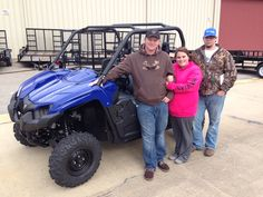 Thanks to Jacob, Taylor and Jessie Breland from Lucedale MS for the purchase of a 2015 Yamaha Viking. Hattiesburg Cycles appreciates your business!