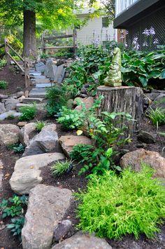 Nice shade and rock garden!