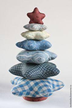 Купить Новогодняя Ёлочка из ткани для пэчворка - Новый Год, елка новогодняя, текстильная игрушка