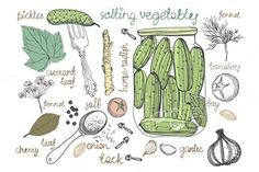 I just released Pickled cucumbers vegetables in jar on Creative Market.
