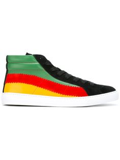 Shop Paul Smith colour block hi-tops.