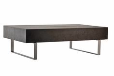 Baxton Studio Noemi Black Modern Coffee Table with Storage Compartments