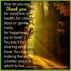 How to say thank you......