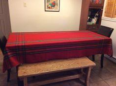 Nappe de Noël en orlec tartan 56 X 108 Tartan, Weaving, Bench, Storage, Furniture, Home Decor, Tapestry, Purse Storage, Decoration Home