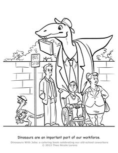 Dinosaurs With Jobs - coloring book!