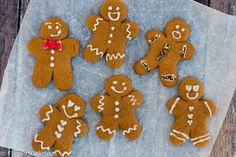 Gluten free vegan ninjabread men made with an easy gluten free, dairy free, egg free, gingerbread cut out recipe are a fun treat that the whole family can enjoy during the holidays.
