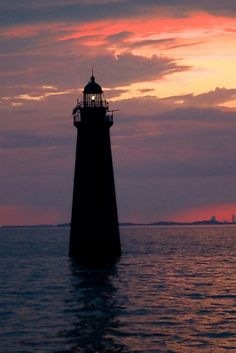 Minot's Ledge Lighthouse at sunset by nelights, via Flickr