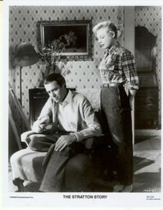 june allyson and Jimmy Stewart | Stratton Story James Stewart June Allyson Jimmy Press Promo Photo #5 ...