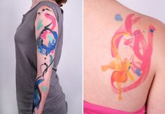 """""""water color"""" tattoo"""