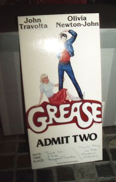vintage 1978 Grease theater  tickets Admits two