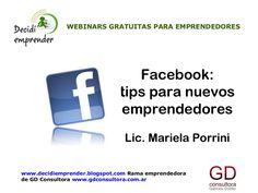 Webinar gratuita: Facebook. Tips para nuevos #emprendedores. Material.