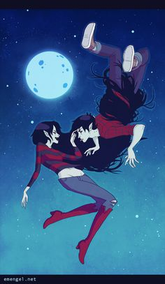 Marceline & Marshall Lee by E.M. Engel, via Behance