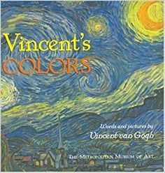 Vincent Van Gogh starry night kids process art storytime craft paint finger painting blue white gold washable paint vincent's colors preschool toddler class school library