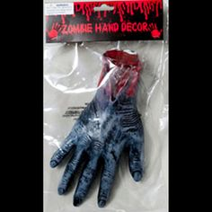 Life Size Bloody SEVERED ZOMBIE HAND Wrist Partial Arm-Rotting Walking Dead Dexter Gory Butcher Chop Shop Meat Market Morgue Body Part Cemetery Graveyard Halloween Prop-GRAY. Creepy Haunted House Decoration. Cheap horror won't cost you an arm or leg! http://www.horror-hall.com/Life-Size-Bloody-SEVERED-ZOMBIE-HAND-Body-Parts-Horror-Props-Arm-HH-RG-G89992.htm