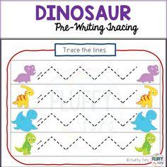 Dinosaurs Preschool Pre-writing Tracing Lines Activities Tracing Lines, Number Tracing, Dinosaurs Preschool, Dinosaur Activities, Pre Writing, Writing Skills, Zigzag Line, Dinosaur Printables, You Are Perfect