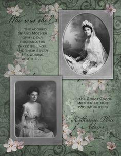 Katharine Place Adams...soft and feminine digi page.