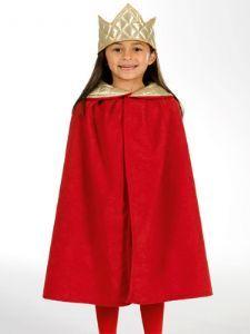 Boys Girls Cloak Nativity Chirldrens Costume Tudor Fancy Dress Red