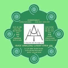 Magic symbol and codes to attract abundance