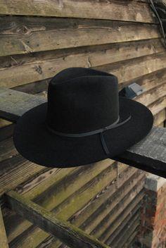 e4283a65959 Vintage Black Stetson Stallion Fur Felt Evanstone Western Cowboy Fedora  Trilby Hat UK 6 7 8