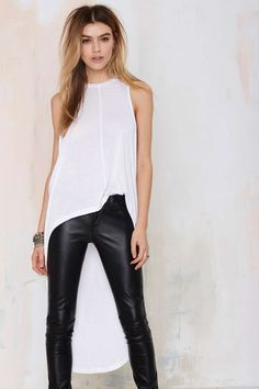 Nasty Gal Good Times Bad Times High Low Maxi Top - White | Shop Clothes at Nasty Gal!