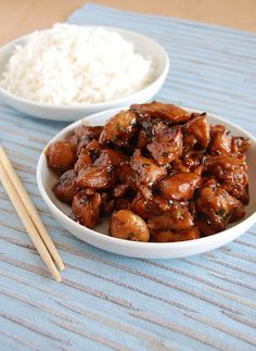Teriyaki sauce: 2 tbsp sake, ¼ cup mirin (sweet Japanese Rice wine), ¼ cup soy sauce, 2 tbsp light brown sugar, 2 tsp grated fresh ginger, 4 sliced spring onions, white part only. Whisk it all together and use as marinade or cook down for thicker sauce.