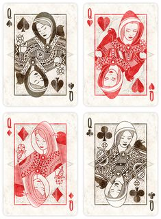 The Queens. The Coven - Custom Playing Cards from 52Ravens. Help back the…