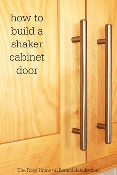 Update your kitchen with new cabinet doors. Learn how to build a shaker cabinet door -- not as difficult as it looks! Update your kitchen with new cabinet doors. Learn how to build a shaker cabinet door -- not as difficult as it looks! Shaker Style Cabinet Doors, Custom Cabinet Doors, Shaker Doors, Shaker Cabinets, Diy Cupboard Doors, New Kitchen Cabinet Doors, Cabinet Fronts, Armoires Shaker, Armoires Diy