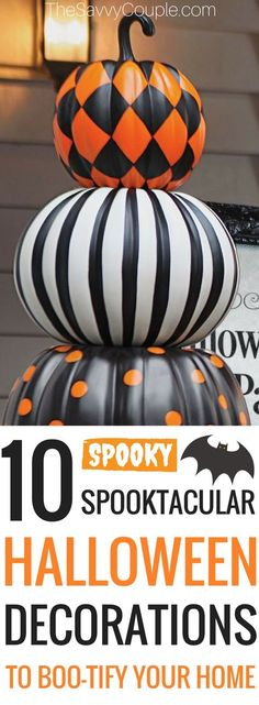 Here's a roundup of 10 Halloween Decor Ideas! A list of the best DIY Halloween decor ideas using cheap supplies. Stop buying overpriced Halloween decorations and make your own for less. These Halloween decor DIY ideas are cheap and easy to make. Halloween is just around the corner. It is time to get into the Halloween spirit with some gorgeous and spooky decorations. #Halloweendecor #Frugal #CheapHalloweendecor #DIYHalloween