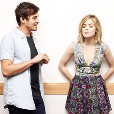 Tyler and Lucy Pretty Little Liars Spoilers, Ezra Fitz, Tyler Blackburn, Pretty Little Lairs, Pll Cast, You Make Me Laugh, Shes Amazing, Spencer Hastings, Family Show