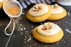 Melt-In-Your-Mouth Pumpkin Cookies from @Brenda Franklin Score | a farmgirls dabbles! Get the recipe on Delish Dish: http://www.bhg.com/blogs/delish-dish/2013/10/01/a-farmgirls-dabbles/