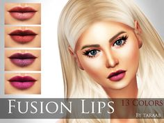 The Sims Resource: Fusion Lips by taraab • Sims 4 Downloads