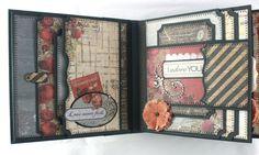 6 x 6 One Love Scrapbook mini-album PDF Tutorial door SoMuchScrap