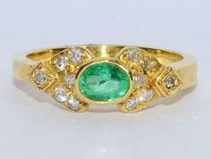 https://www.etsy.com/listing/265085630/vintage-genuine-emerald-diamond-and-18k