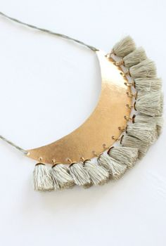 Hazel Cox tassel necklace